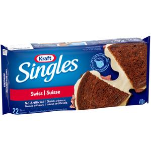 Kraft Singles Swiss Slices 410 g