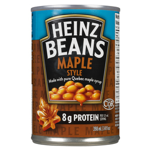Heinz Maple Style Beans with Pure Quebec Maple Syrup 398 ml