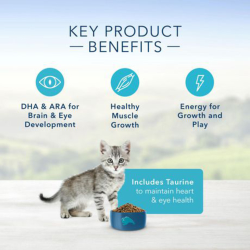 Blue Buffalo Dry Cat Food Natural Kitten Healthy Growth Chicken & Brown Rice 2.2 kg