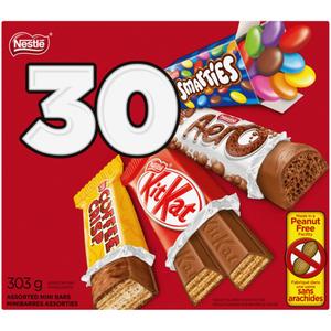 Nestlé Assorted Mini Bars 30 Pack 303 g