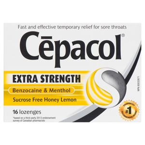 Cepacol Lozenges Extra Strength Honey and Lemon 16 EA