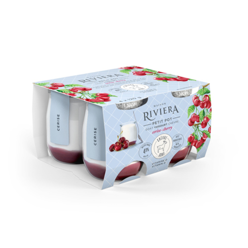 Riviera Goat Yogurt Cherry 4 x 120 g