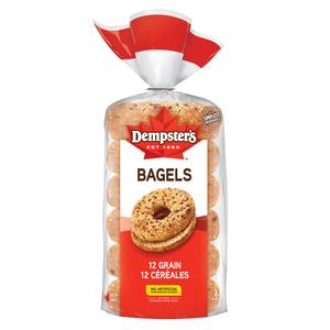 Dempster's Bagels 12 Grain 6 Pack 510 g