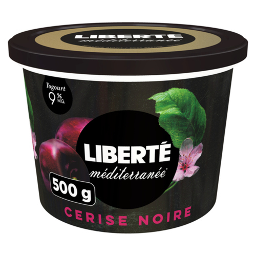 Liberté Mediterranee 9% Yogurt Black Cherry 500 g