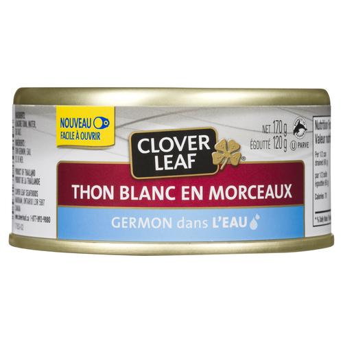 Clover Leaf Chunk White Tuna Albacore In Water 170 g