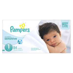 Pampers Swaddlers Sensitive Super Diapers 84 EA