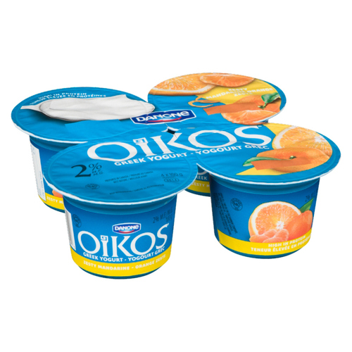 Oikos Greek Yogurt Zesty Mandarin Orange 4 x 100 g