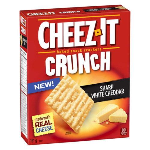 Kellogg Cheez-it Sharp White Cheddar Crackers 191 g