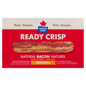 Maple Leaf Ready Crisp Fully Cooked Natural Bacon Slices 65 g