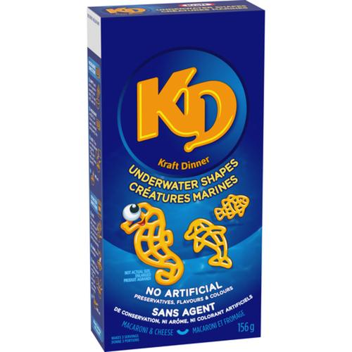 Kraft Dinner Macaroni & Cheese Shapes Underwater Creatures 156 g