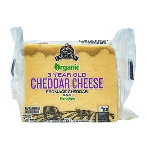 Farm Boy Organic 3 Yr Old Cheddar Cheese 195 g