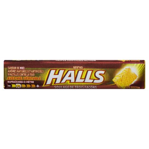 Halls Cough Drops Honey 9 Lozenges