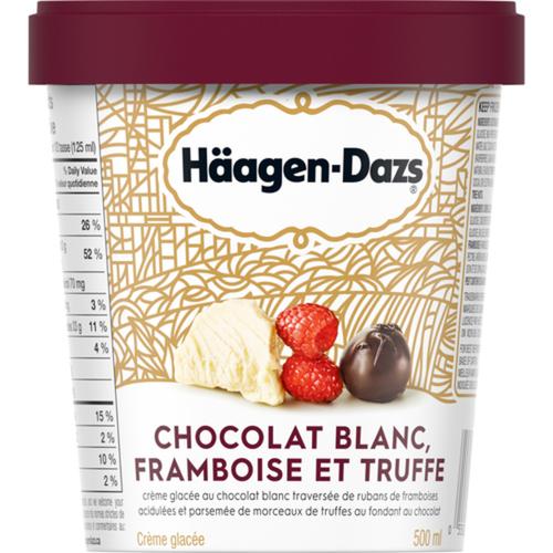 Häagen-Dazs White Chocolate Raspberry Truffle Ice Cream 500 ml