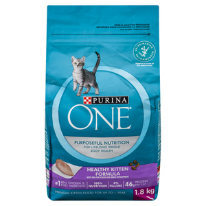 Purina One Cat Food Healthy Kitten Formula Real Chicken 1.8 kg