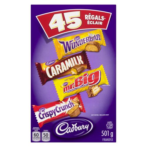 Cadbury Assorted Halloween Candy Chocolate 45 Bars 501 G