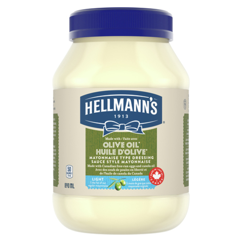 Hellmann's Mayonnaise Type Dressing LightWithOliveOil 890 ml