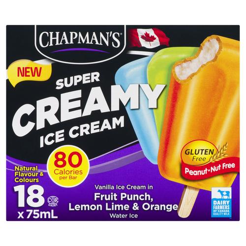 Chapman's Super Creamy Ice Cream Bars 18 EA