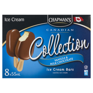 Chapman's Vanilla With Milk Chocolate Ice Cream Bars 8 x 55 ml