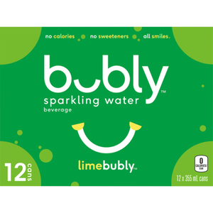 Bubly Lime Sparkling Water Lime 12 x 355 ml
