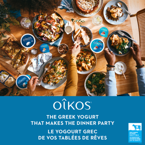 Oikos Greek Yogurt Raspberry Pomegranate 4 x 100 g
