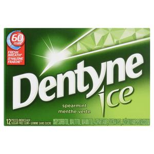 Dentyne Ice Gum Spearmint 12 Pieces
