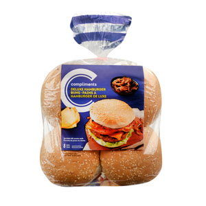Compliments Deluxe Sesame Seed Hamburger Buns 616 g