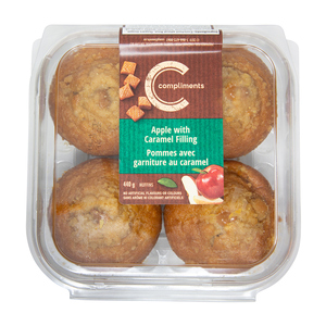 Compliments Muffins Apple with Caramel Filling 440 g