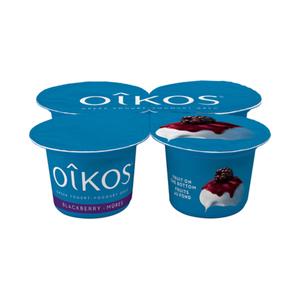 Oikos Greek Yogurt Blackberry 4 x 100 g