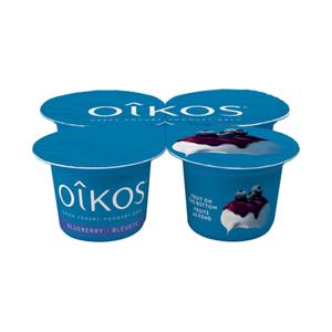 Oikos Blueberry 2% Greek Yogurt  4 X 100 g