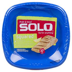 Solo Plastic Plates 9-inch 20 EA