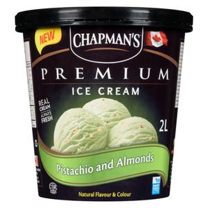 Chapmans Premium Ice Cream Pistachio  2 L