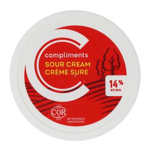 Compliments Sour Cream 14% MF 250 ml