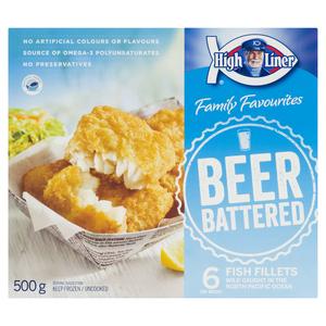 High Liner Family Favourites Captains Catch Beer Battered Fillets 500 g