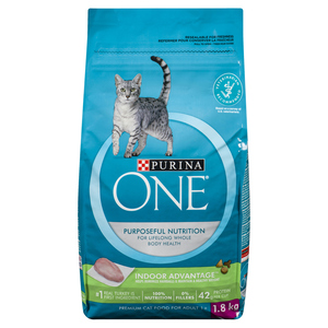 Purina ONE Dry Cat Food Natural Indoor Advantage 1.8 kg