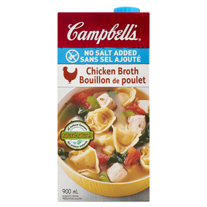 Campbell's No Salt Added Chicken Broth 900 ml
