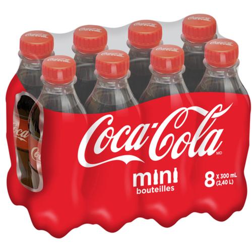 Coca-Cola Mini Bottles 8 Pack 300 mL