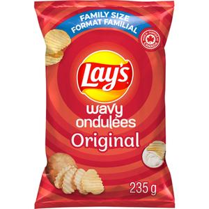 Lay's Wavy Original Potato Chips 235 g