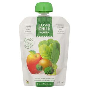 Love Child Organics Apple Spinach Kiwi Broccoli Baby Food 128 mL