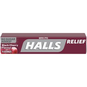 Halls Sugar-Free Black Cherry Cough Drops 9 Lozenges