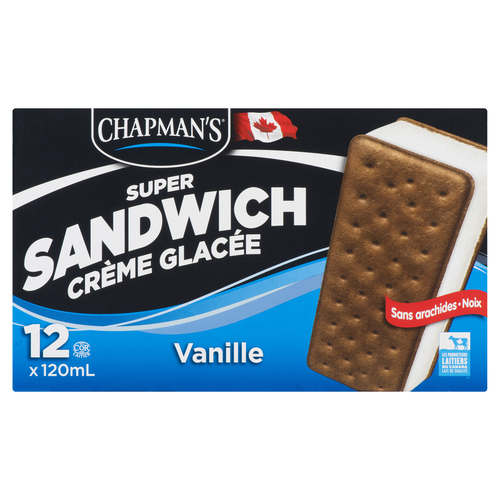 Chapman's Super Ice Cream Sandwich 12 Pack 120 ml