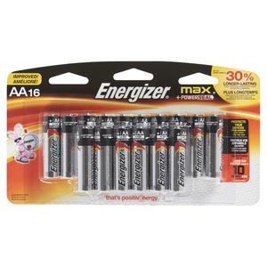 Energizer Max AA Batteries 16 EA