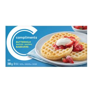 Compliments Waffles Buttermilk  8 Pack 280 g