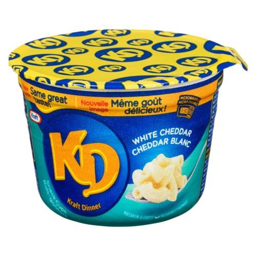 Kraft Dinner Snack Cups Macaroni & Cheese  White Cheddar  58 g