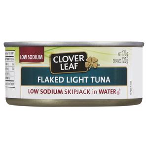 Clover Leaf Flaked Tuna Skipjack Low Sodium 170 g