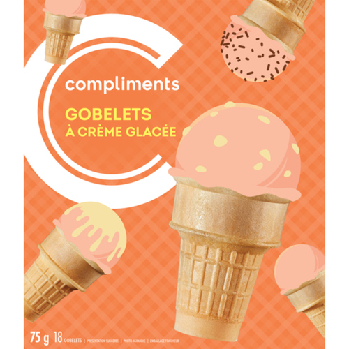 Compliments Ice Cream Cups 18 EA