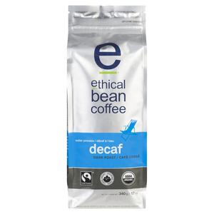 Ethical Bean Organic Decaf Dark Roast Whole Bean Coffee 340 g