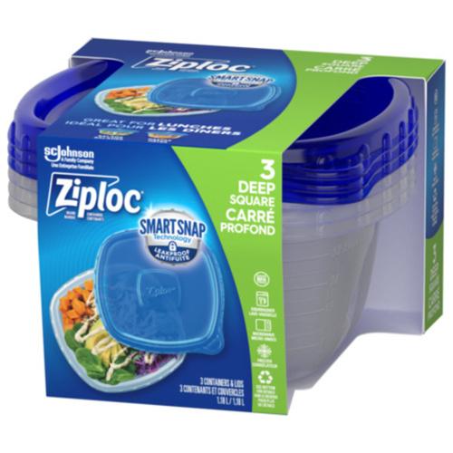 Ziploc Containers Medium Square 3 EA