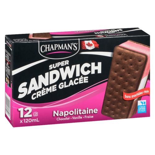 Chapman's Super Neapolitan Ice Cream Sandwich 1.44 L