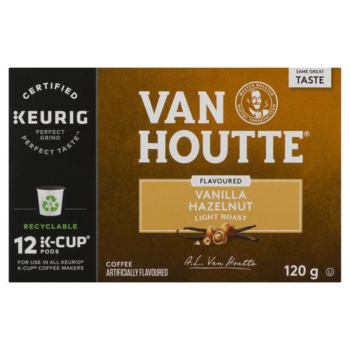 Van Houtte Vanilla Hazelnut Coffee 12 K-Cups 120 g