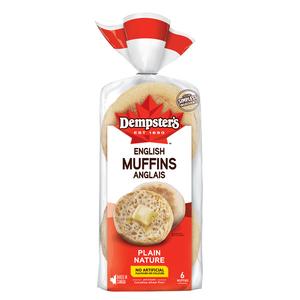 Dempster's English Muffins Original 6 Pack 340 g